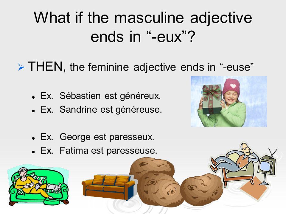 When do adjectives come BEFORE the noun.