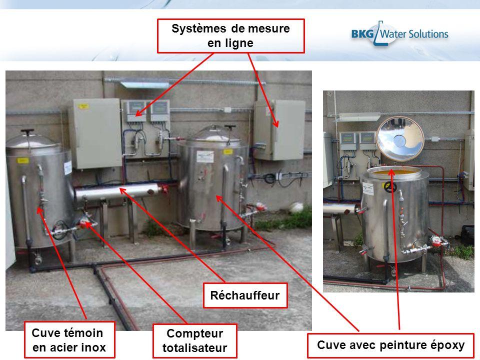 Systèmes de mesure en ligne Réchauffeur Cuve témoin en acier inox Cuve avec peinture époxy Compteur totalisateur