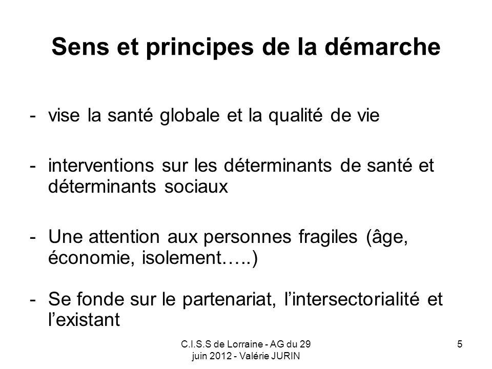 C.I.S.S de Lorraine - AG du 29 juin 2012 - Valérie JURIN 16 La gouvernance Société socioprofessionnelle = Conseil de Développement Durable du Grand Nancy Représentants des patients et usagers = C.I.S.S.
