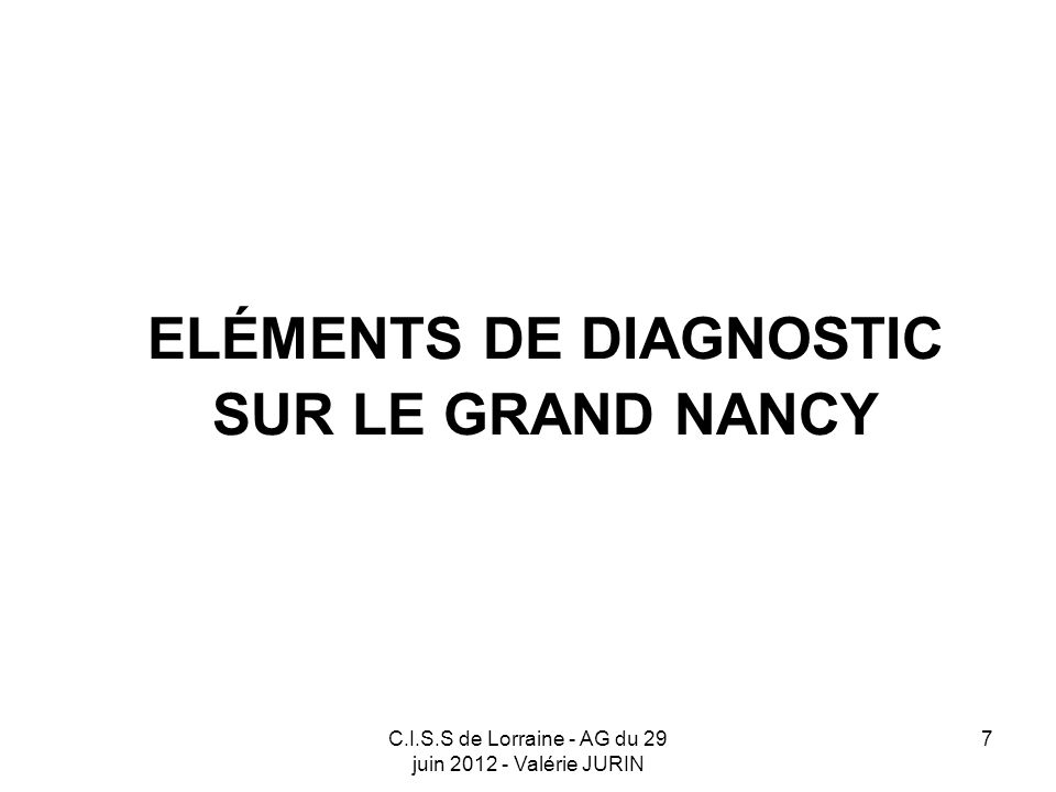 C.I.S.S de Lorraine - AG du 29 juin 2012 - Valérie JURIN 18 Le calendrier Avis et compléments du C.I.S.S.