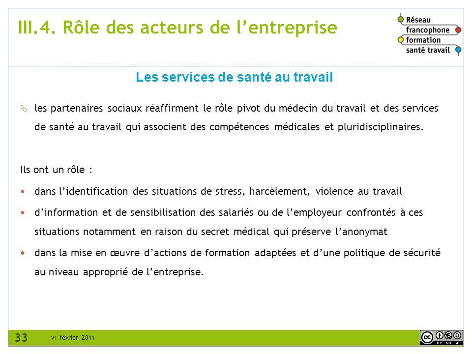 v1 février 2011 les partenaires sociaux réaffirment le rôle pivot du médecin du travail et des services de santé au travail qui associent des compéten