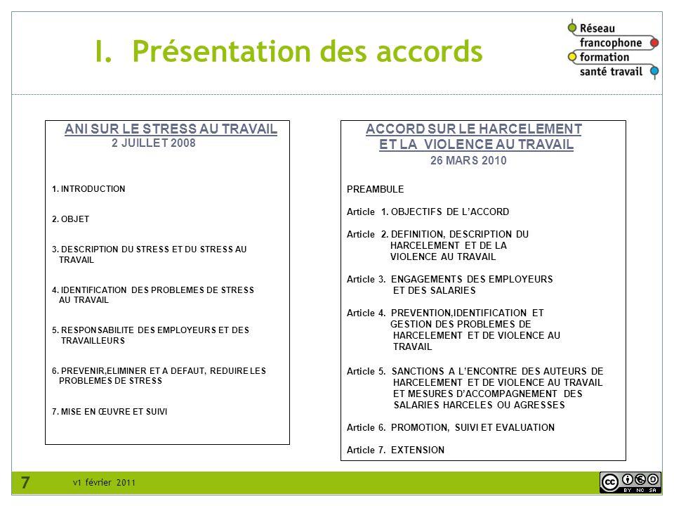 v1 février 2011 IV.2.2 Identification des mesures de prévention ; procédures de traitement des problèmes Mesures de prévention N.B.