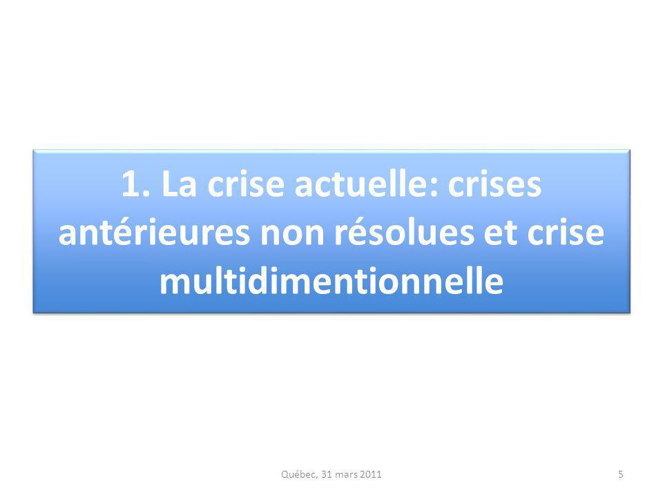 5 1. La crise actuelle: crises antérieures non résolues et crise multidimentionnelle