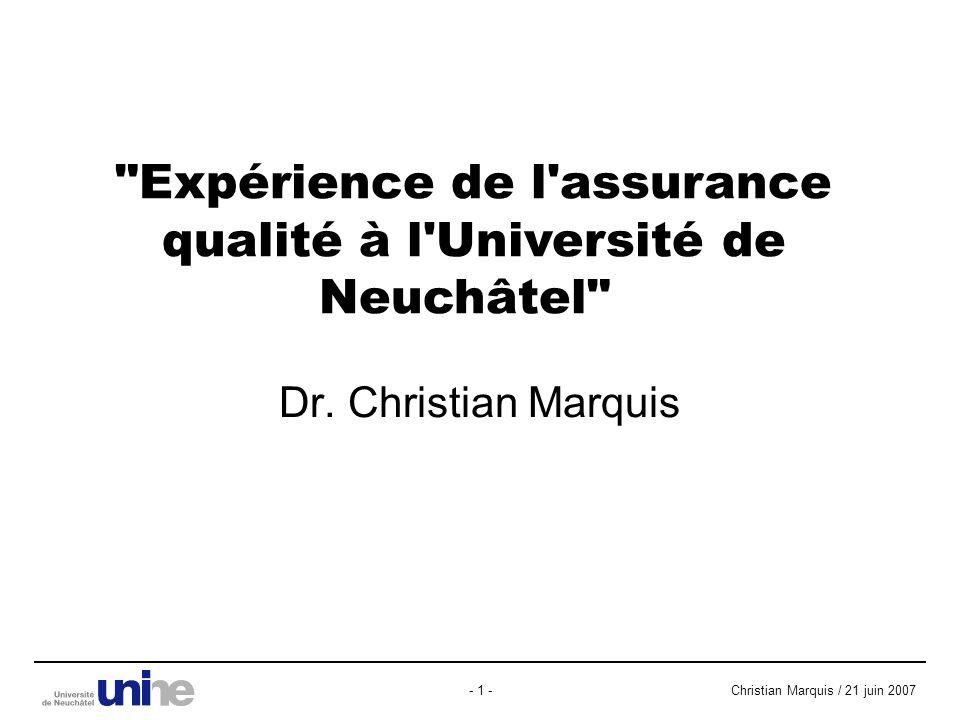 Christian Marquis / 21 juin 2007- 1 - Dr.
