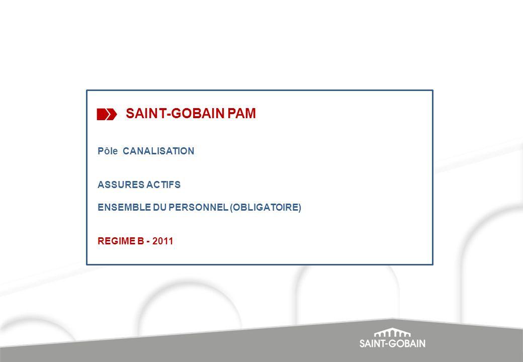 SAINT-GOBAIN PAM Pôle CANALISATION ASSURES ACTIFS ENSEMBLE DU PERSONNEL (OBLIGATOIRE) REGIME B - 2011