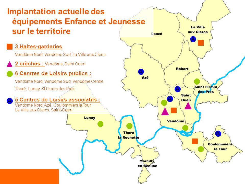 La gestion en régie directe des compétences Enfance et Jeunesse 3 Haltes-garderies Vendôme Nord, Vendôme Sud, La Ville aux Clercs 2 crèches : Vendôme,