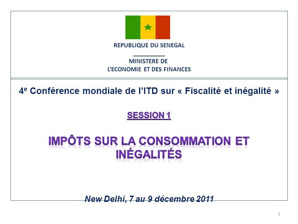 REPUBLIQUE DU SENEGAL __________ MINISTERE DE LECONOMIE ET DES FINANCES 1