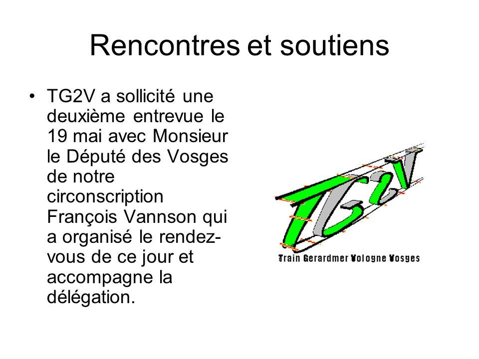 Rencontres et soutiens TG2V a sollicité une deuxième entrevue le 19 mai avec Monsieur le Député des Vosges de notre circonscription François Vannson q