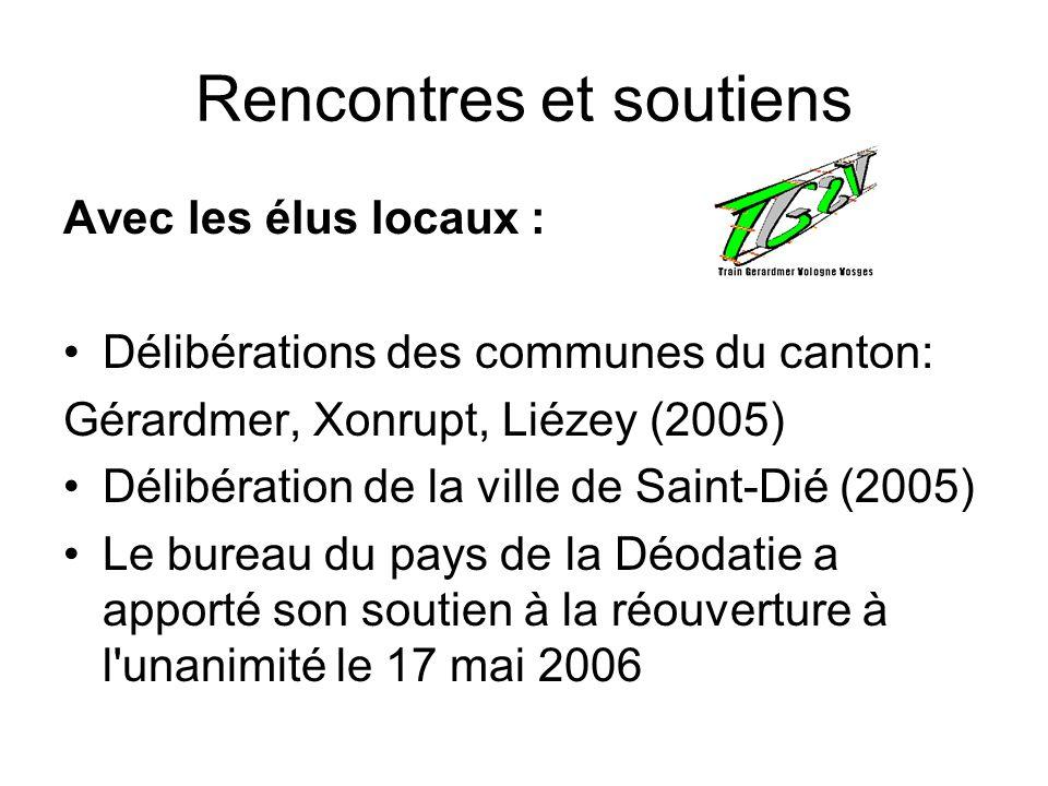 Rencontres et soutiens Avec les élus locaux : Délibérations des communes du canton: Gérardmer, Xonrupt, Liézey (2005) Délibération de la ville de Sain