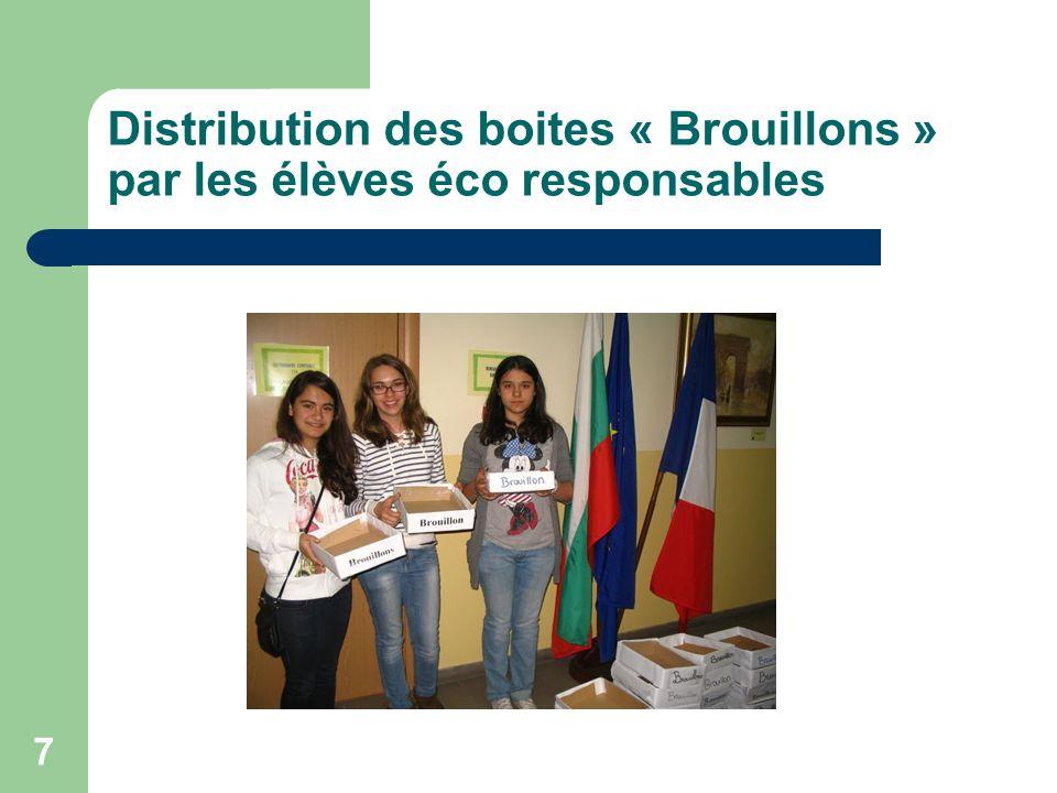 7 Distribution des boites « Brouillons » par les élèves éco responsables