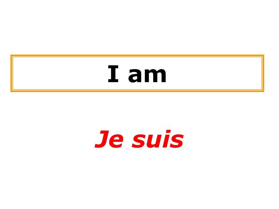 I am Je suis