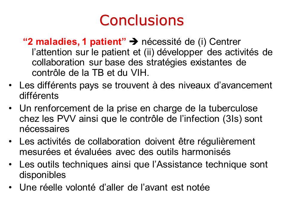 Conclusions 2 maladies, 1 patient nécessité de (i) Centrer lattention sur le patient et (ii) développer des activités de collaboration sur base des st
