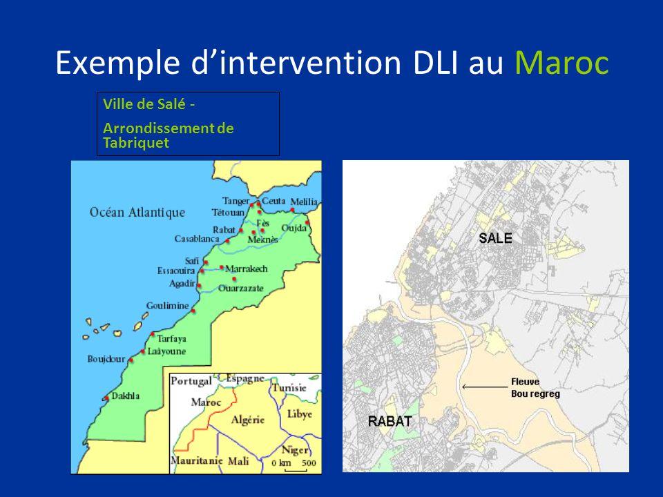 Exemple dintervention DLI au Maroc Ville de Salé - Arrondissement de Tabriquet