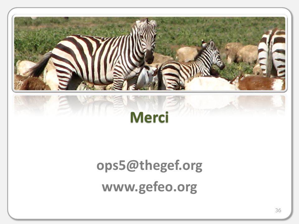 Merci ops5@thegef.org www.gefeo.org 36