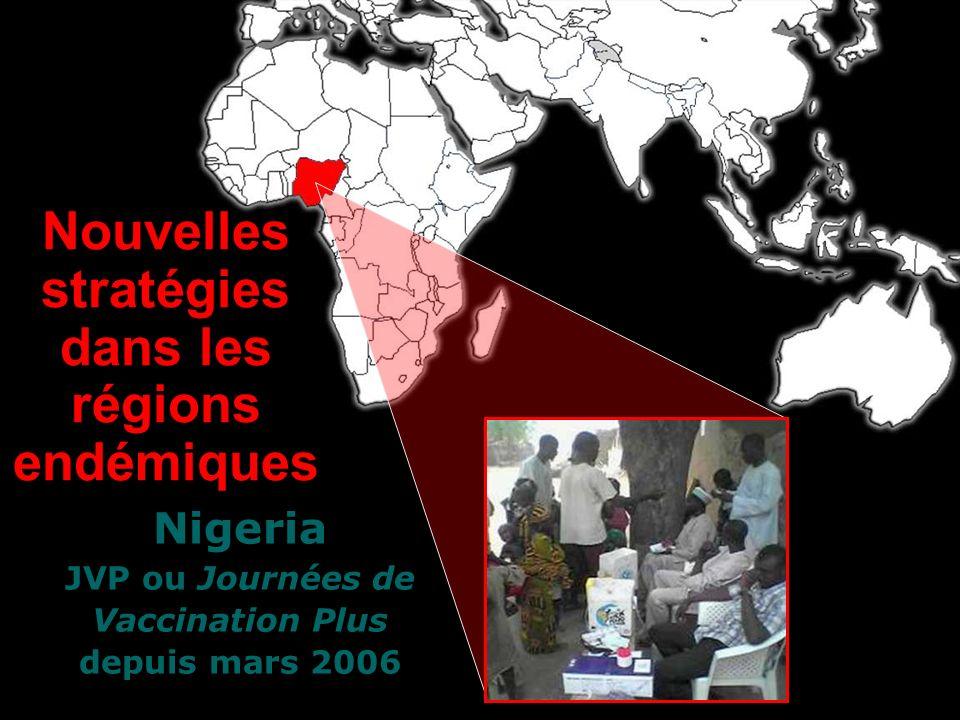 Nigeria JVP ou Journées de Vaccination Plus depuis mars 2006 Nouvelles stratégies dans les régions endémiques