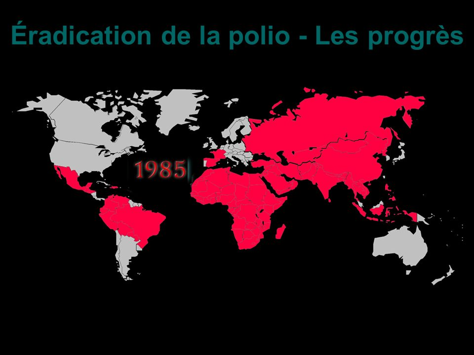Éradication de la polio - Les progrès