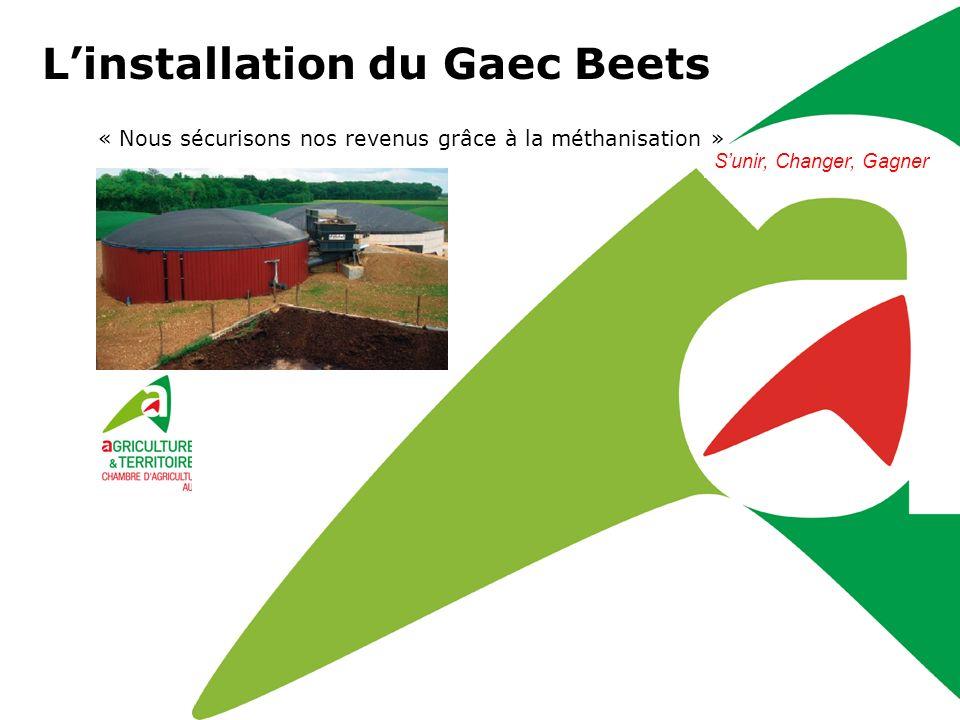 Sunir, Changer, Gagner Linstallation du Gaec Beets « Nous sécurisons nos revenus grâce à la méthanisation » Sunir, Changer, Gagner