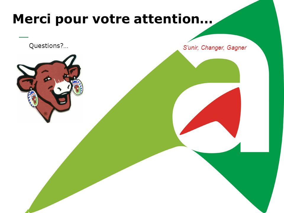 Merci pour votre attention… Questions?… Sunir, Changer, Gagner