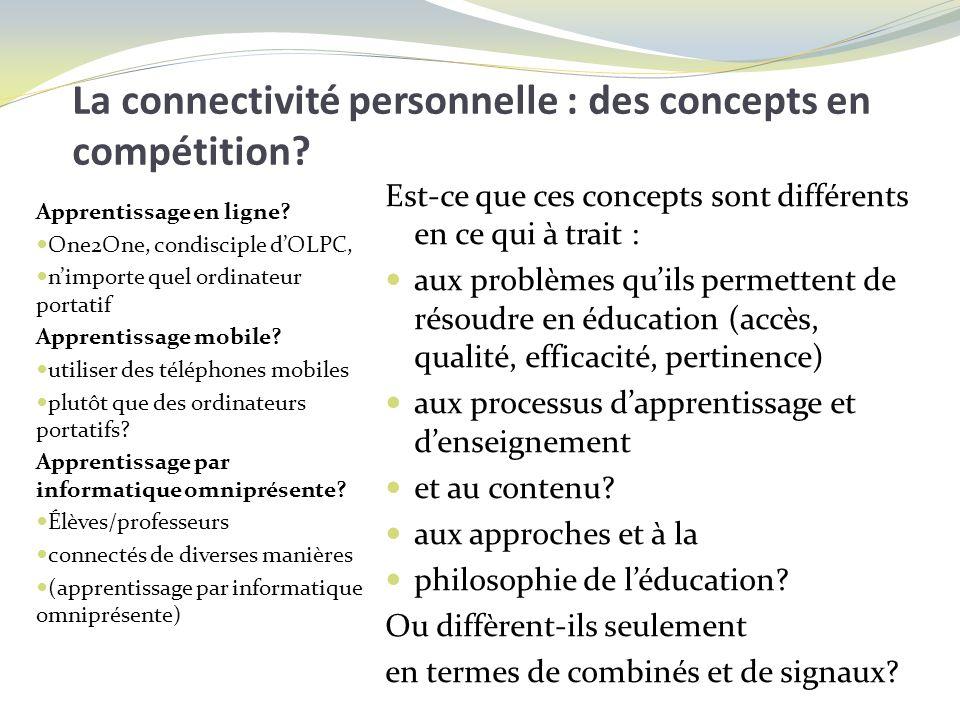 La connectivité personnelle : des concepts en compétition.