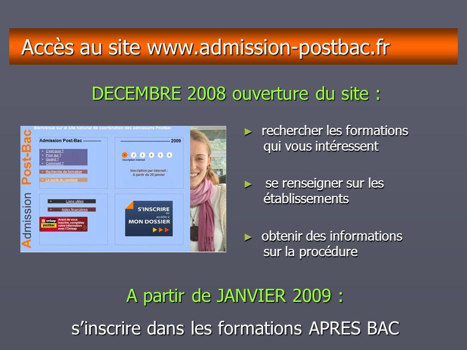décembrejanvierfévriermarsavrilmaijuinjuilletaoûtseptembre A CONSULTER Après BAC 2009 Distribué GRATUITEMENT à chaque élève de Terminale