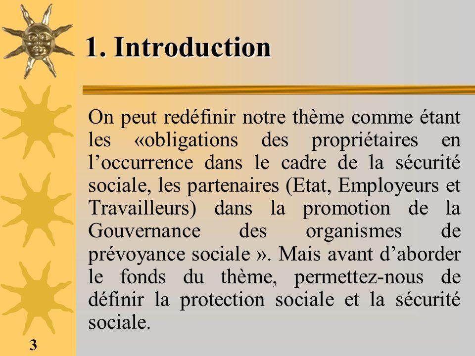 3 1. Introduction On peut redéfinir notre thème comme étant les «obligations des propriétaires en loccurrence dans le cadre de la sécurité sociale, le