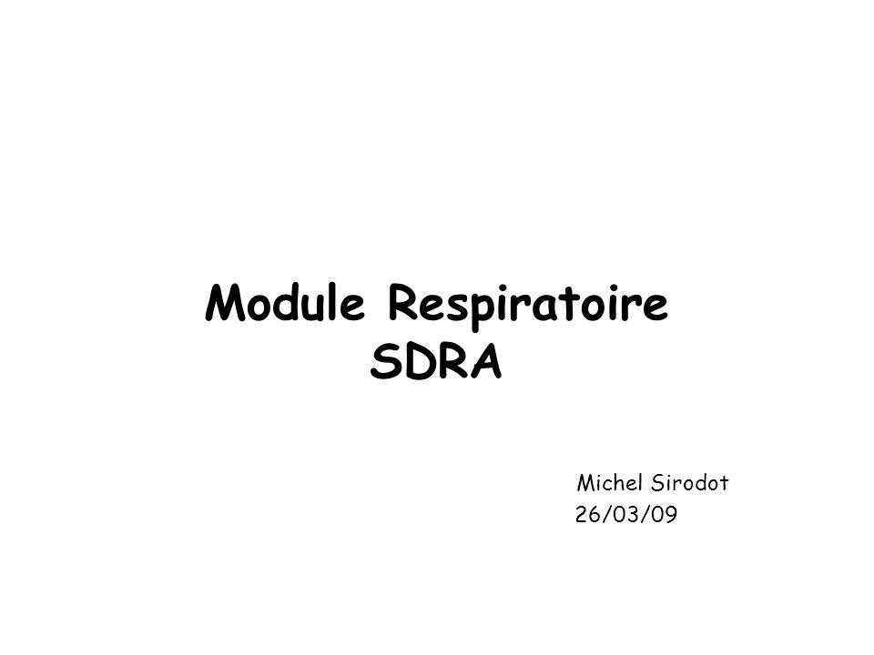 Module Respiratoire SDRA Michel Sirodot 26/03/09