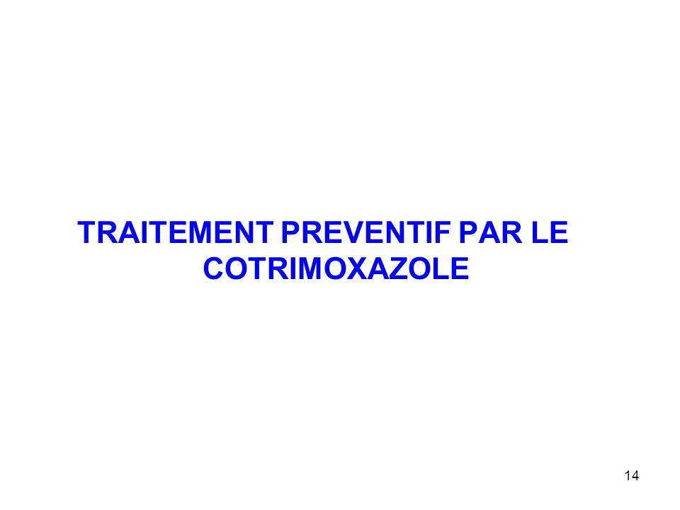 14 TRAITEMENT PREVENTIF PAR LE COTRIMOXAZOLE