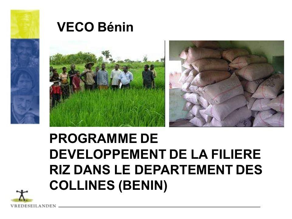PROGRAMME DE DEVELOPPEMENT DE LA FILIERE RIZ DANS LE DEPARTEMENT DES COLLINES (BENIN) VECO Bénin