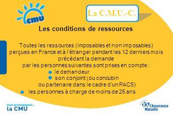 les personnes à charge de moins de 25 ans Les conditions de ressources Toutes les ressources (imposables et non imposables) perçues en France et à lét