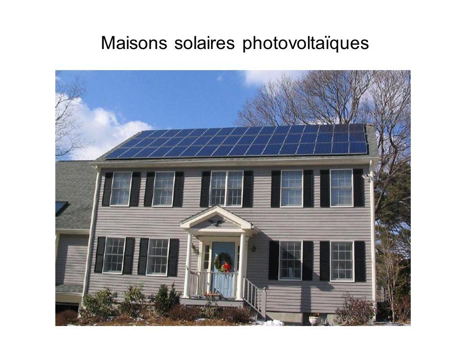 Maisons solaires photovoltaïques