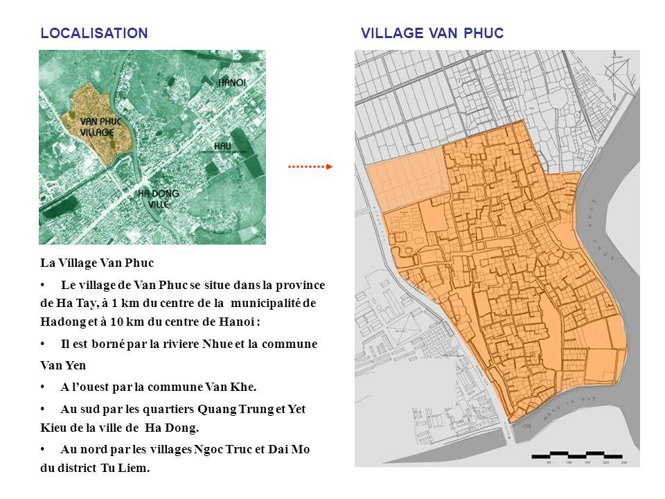 VAN PHUC EST UN VILLAGE DE LA SOIE Dans ce village, il y a plus de 9000 de la population, 1500 famillie fabriquant les produits des soies.