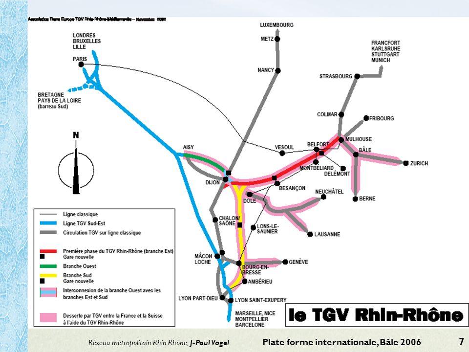 Réseau métropolitain Rhin Rhône, J-Paul Vogel Plate forme internationale, Bâle 2006 7