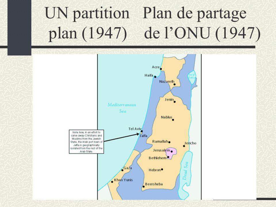 UN partition Plan de partage plan (1947) de lONU (1947)