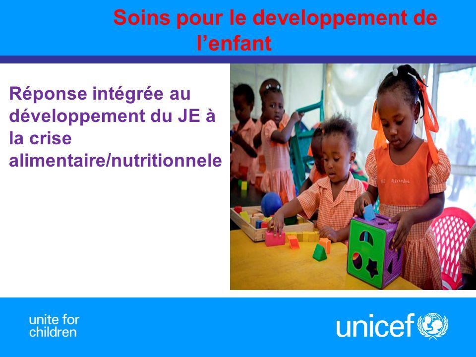 Soins pour le developpement de lenfant Prepared by Réponse intégrée au développement du JE à la crise alimentaire/nutritionnele