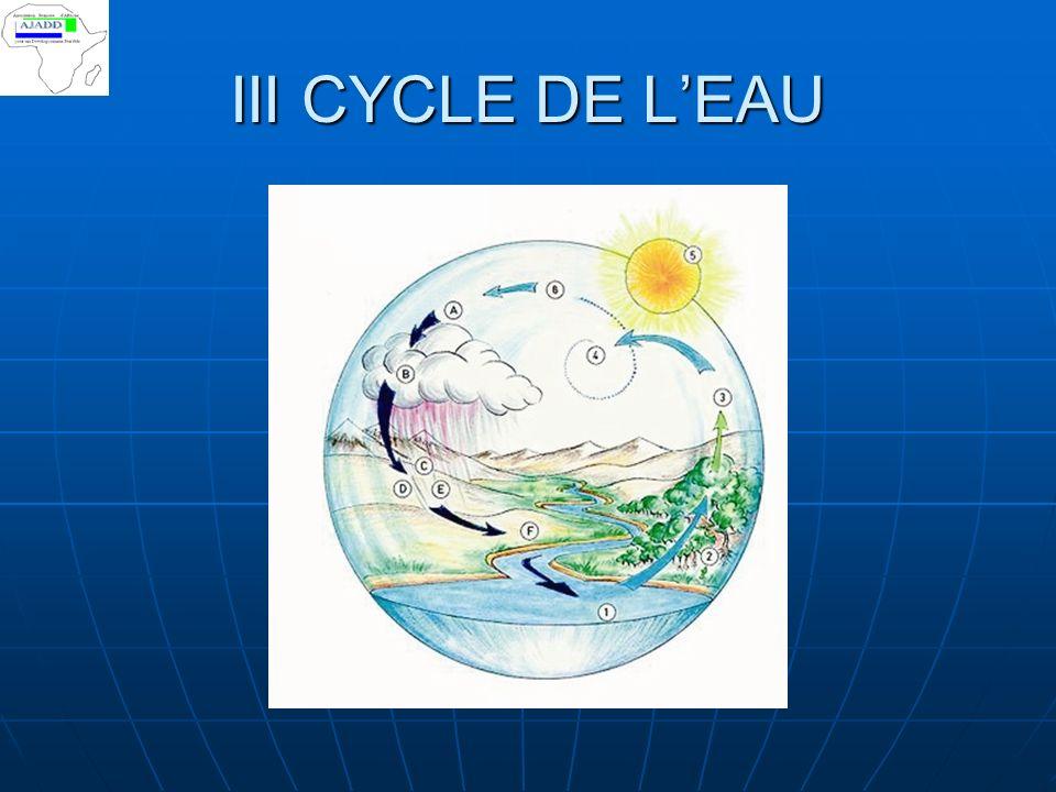 III CYCLE DE LEAU