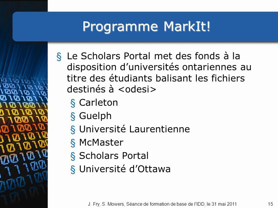 Programme MarkIt.