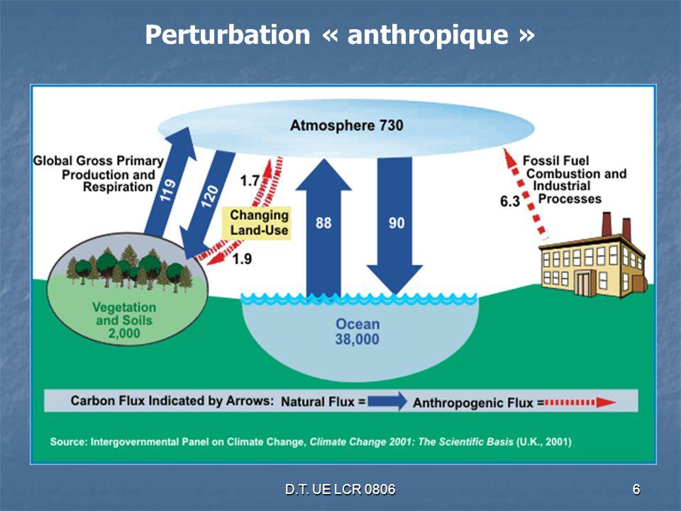 D.T.UE LCR 080627 450 ppmv CO2 - 50-85% ém. mondiales 2050 -25-40% pays ind.