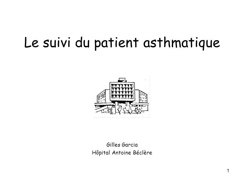 1 Le suivi du patient asthmatique Gilles Garcia Hôpital Antoine Béclère