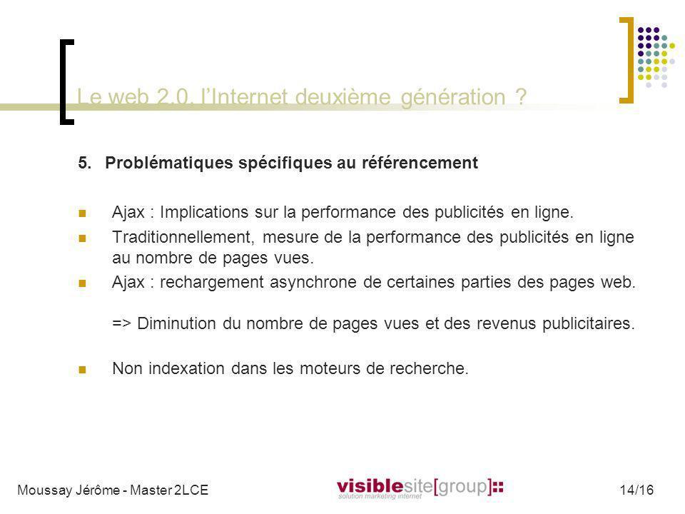 Le web 2.0, lInternet deuxième génération ? 5.Problématiques spécifiques au référencement Ajax : Implications sur la performance des publicités en lig