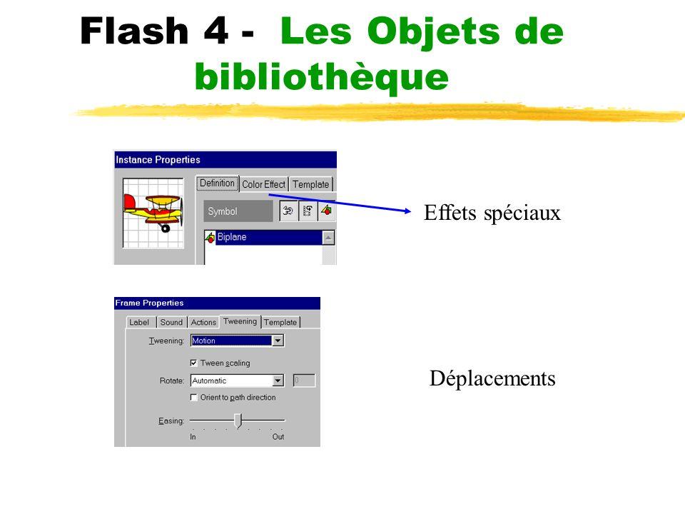 Flash 4 - Les Objets de bibliothèque Effets spéciaux Déplacements