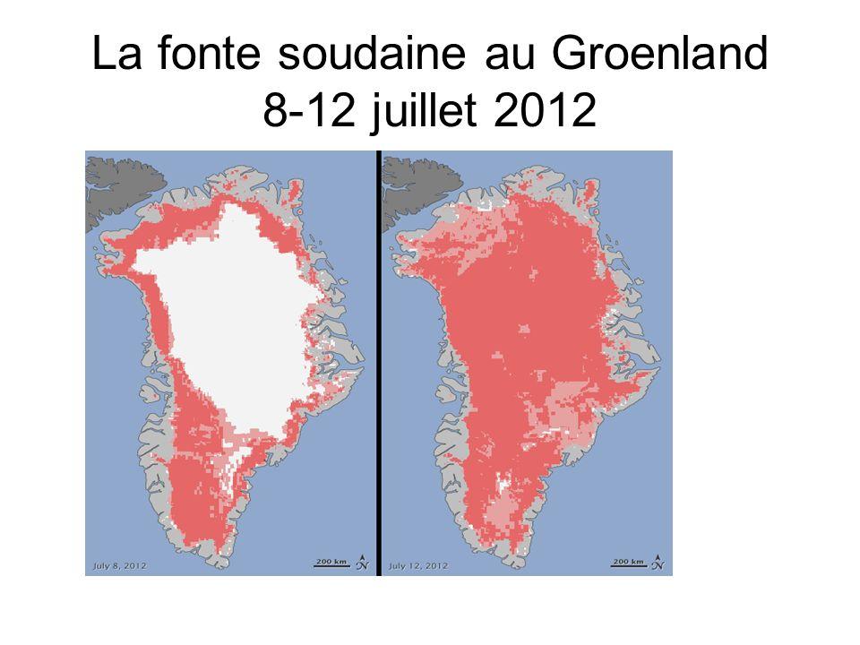 La fonte soudaine au Groenland 8-12 juillet 2012