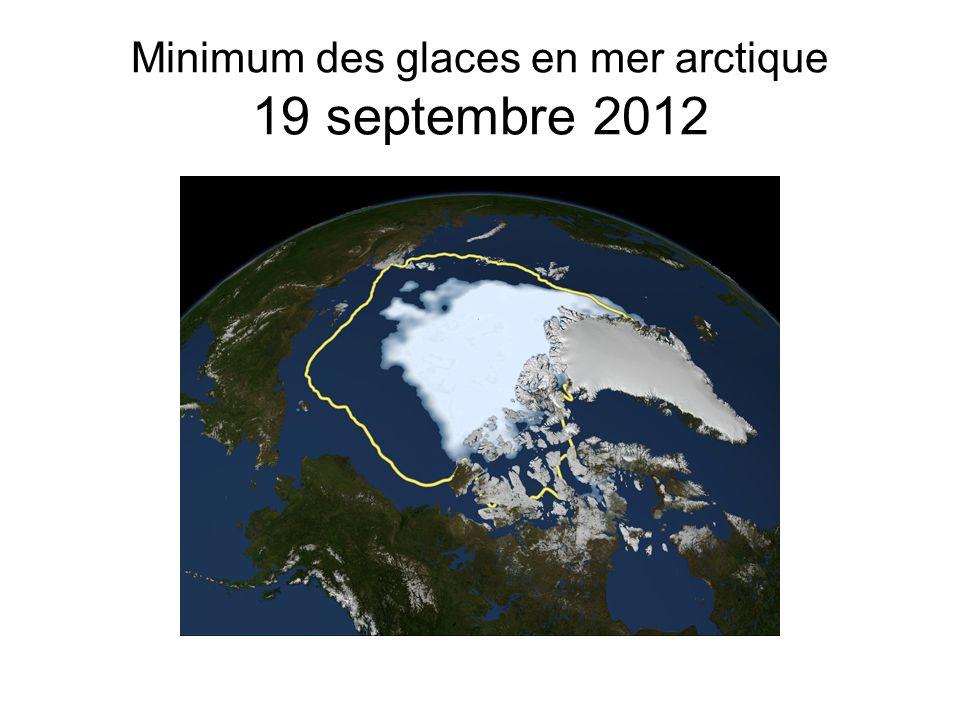 Minimum des glaces en mer arctique 19 septembre 2012