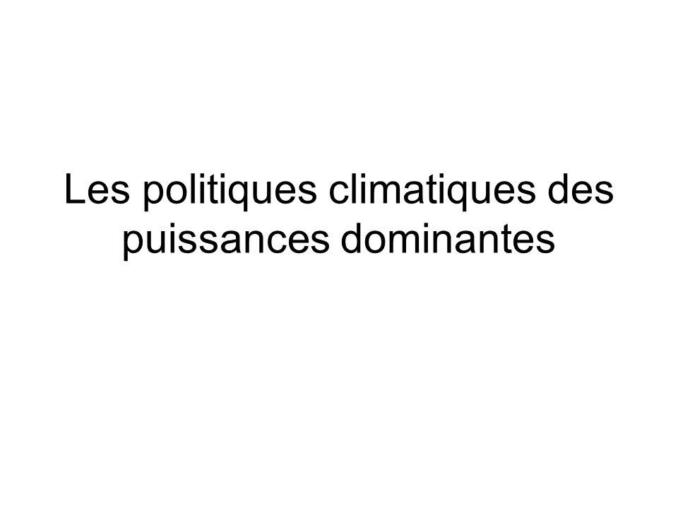 Les politiques climatiques des puissances dominantes