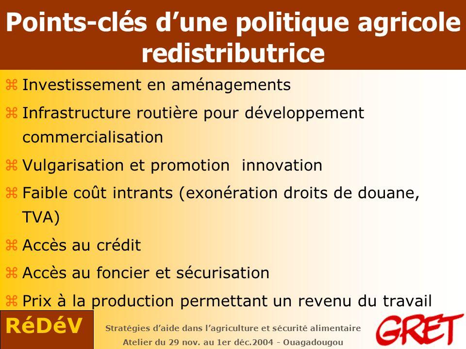 RéDéV Stratégies daide dans lagriculture et sécurité alimentaire Atelier du 29 nov.