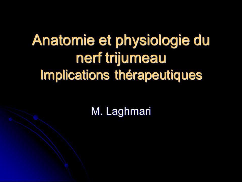 Anatomie et physiologie du nerf trijumeau Implications thérapeutiques M. Laghmari