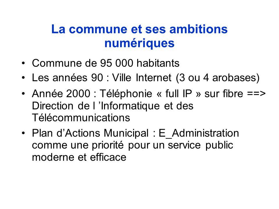 Le plan E_Administration de Tourcoing Modernisation des services en interne Relations avec les partenaires Relations avec les administrés