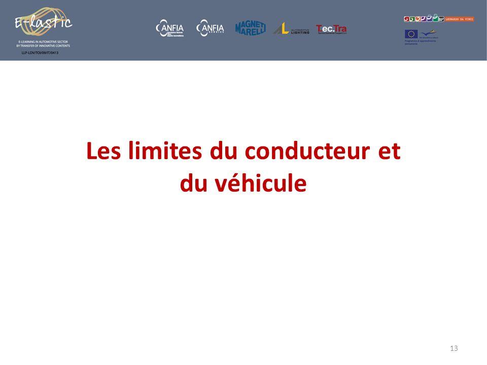 Les limites du conducteur et du véhicule 13