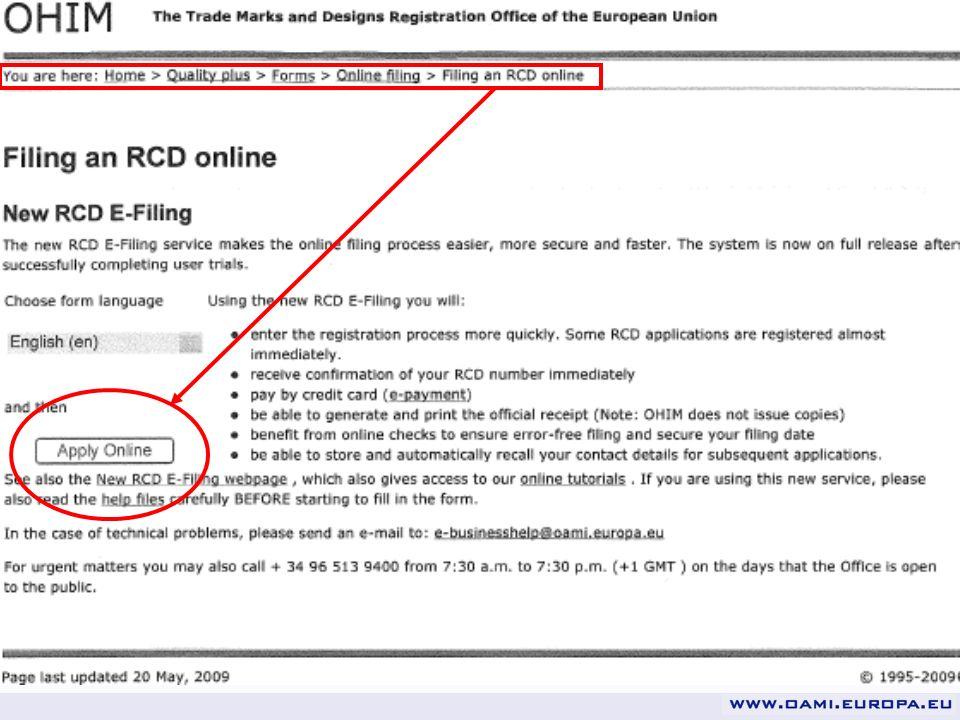 1.Remplissage plus rapide des formulaires / Pas de retard de communication 2.Pas besoin de partir de zéro: vous pouvez partir dune demande similaire antérieure Nouveau Dépôt électronique RCD e-Filing Avantages