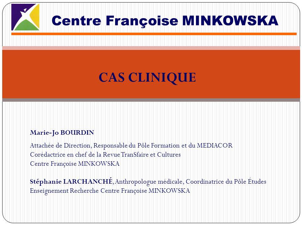 2 filles respectivement âgées de 5 et 2 ans En France depuis le 16/11/2009 Adressée au Centre Françoise MINKOWSKA par une éducatrice de son lieu dhébergement durgence pour un état de stress post traumatique suite à un mariage forcé Cas clinique 1 : Mme S.