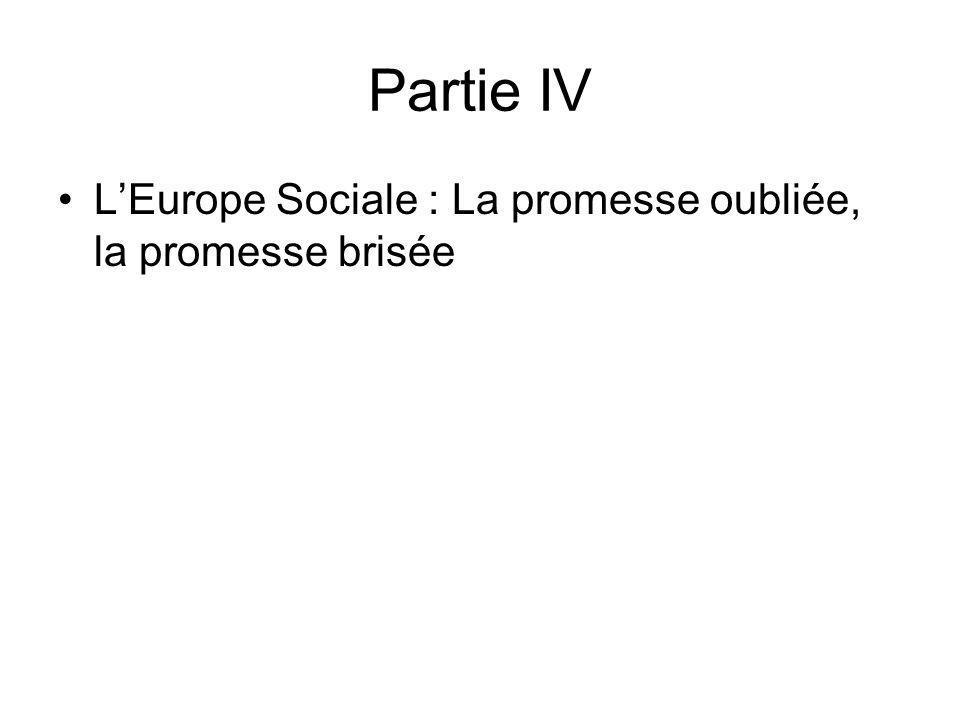 Partie IV LEurope Sociale : La promesse oubliée, la promesse brisée